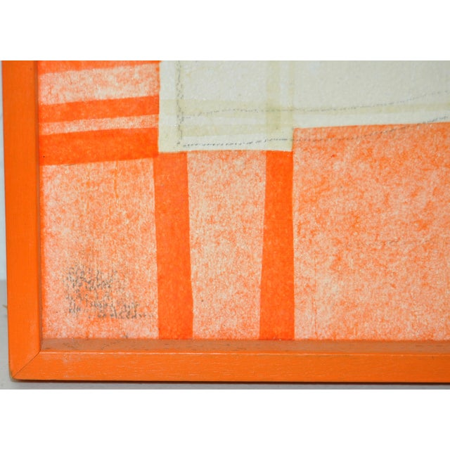 Image of Vintage Mixed Media Abstract Painting by Bartlett