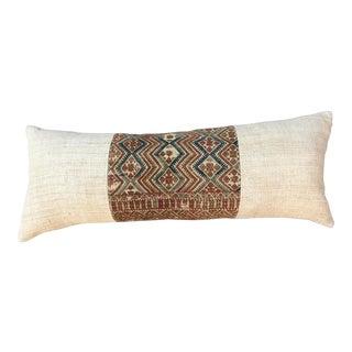 Antique Wedding Quilt W/ African Mud Cloth Pillow