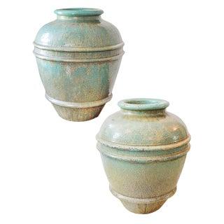 Large Celadon Pots