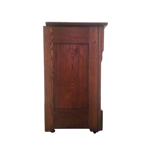 Antique One Door Chest - Image 6 of 7