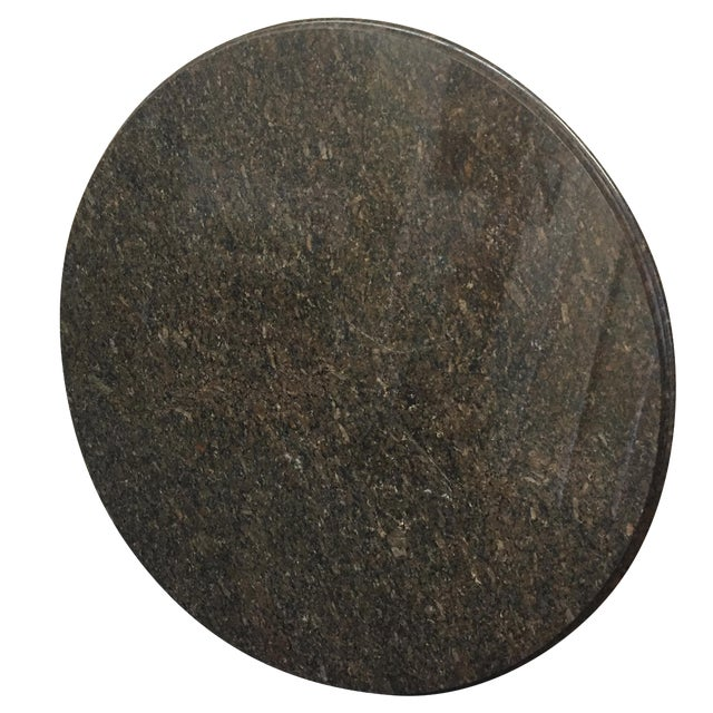 "Beveled Black Granite 48"" Round - Image 1 of 8"
