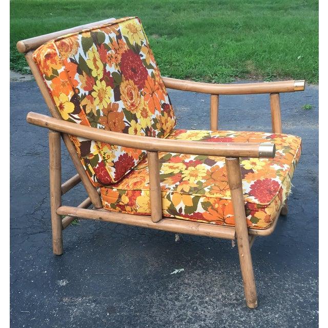 John Wisner for Ficks Reed Rattan Chair - Image 2 of 5