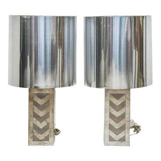 Italian 1970s Chevron Lamps