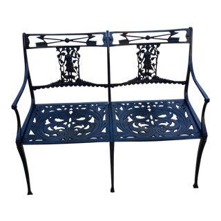 1950's cast aluminum bench