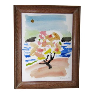 'Tree in Blossom by the Sea'