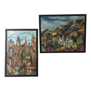 Anne Marcus Acrylic Paintings - a Pair