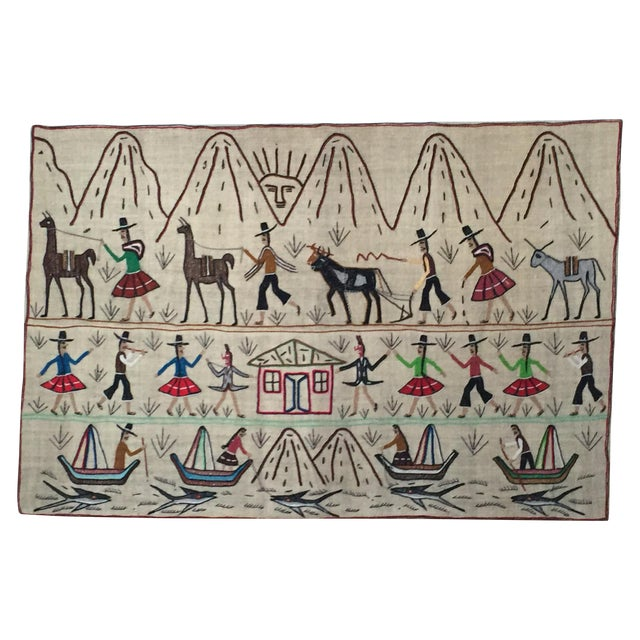 Central American Traditional Art Textile - Image 1 of 4