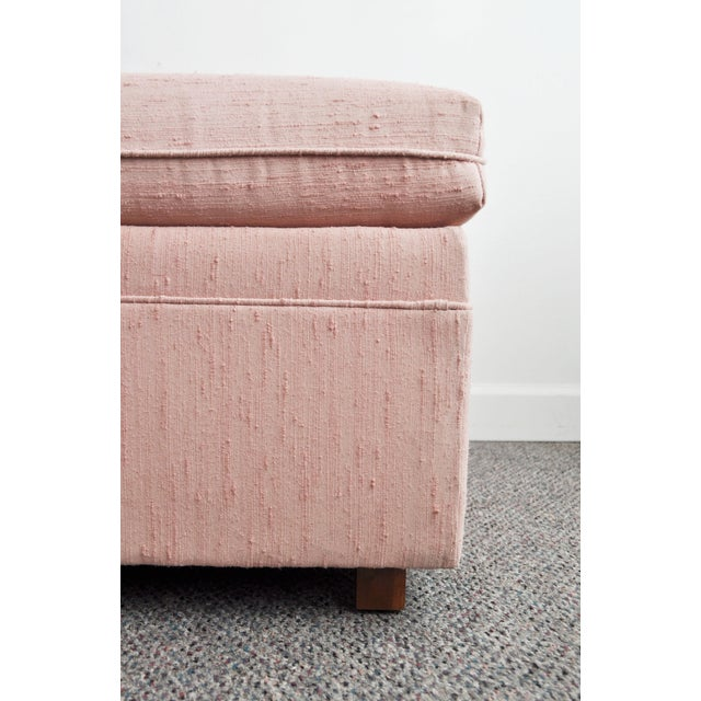 Blush Pink Upholstered Ottoman - Image 5 of 9