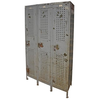 Industrial Locker Unit With Three Full-Length Door