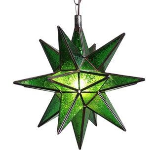 Moroccan Green Star Lantern