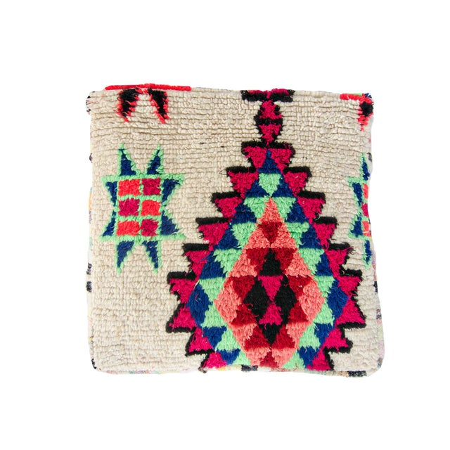 Vintage Moroccan Rug Floor Pillow - Image 2 of 2