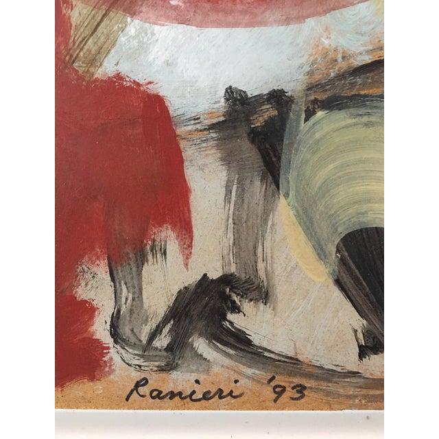 1993 Ranieri Abstract Oil on Masonite Painting - Image 5 of 5