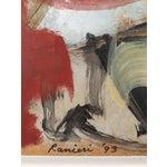 Image of 1993 Ranieri Abstract Oil on Masonite Painting