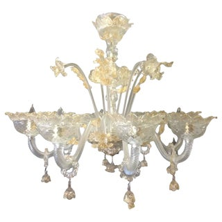 Eight-Arm Murano Chandelier