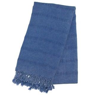 Handwoven Turkish Denim Blue Towel