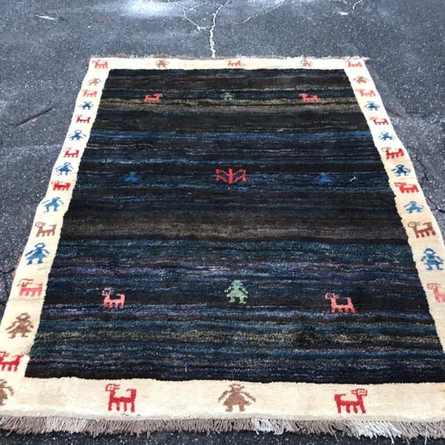 "Vintage Persian Gabe Area Rug- 6'5"" x 4'7"" - Image 11 of 11"