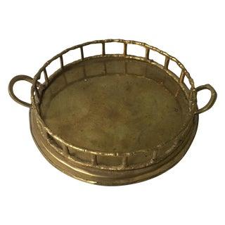 Petite Brass Bamboo Tray