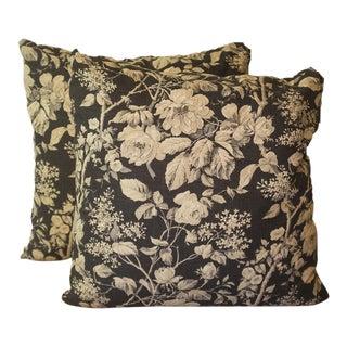 Ralph Lauren Floral Linen Pillows - A Pair