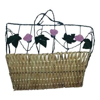 Wicker & Wire Basket