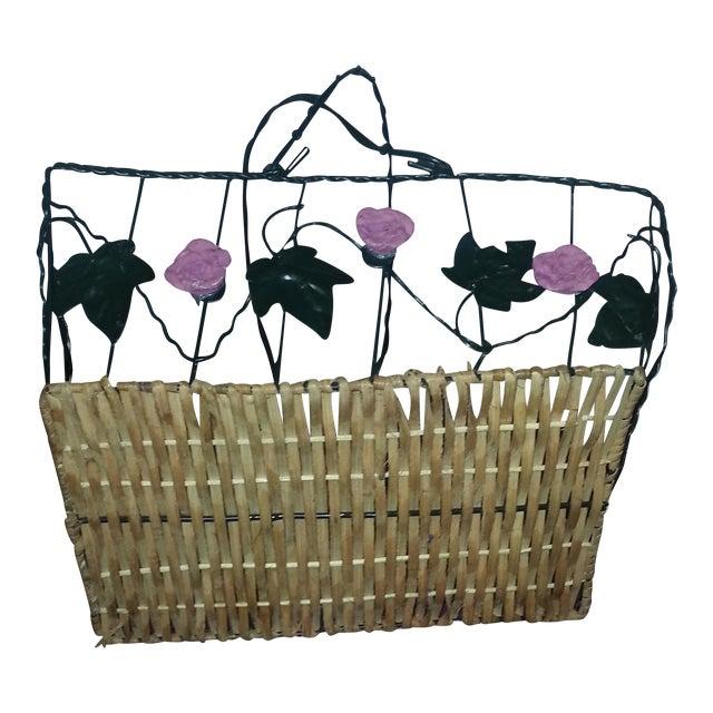 Wicker & Wire Basket - Image 1 of 5