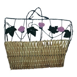 Wicker & Wire Basket