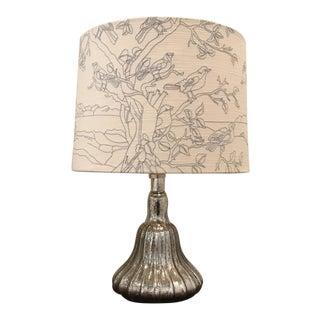 Anthropologie Mercury Glass Lamp