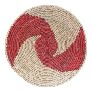 Native American Style Pink Swirl Basket