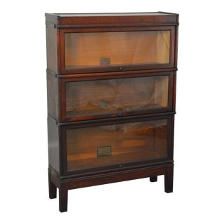 Globe Wernicke Antique Mahogany Barrister Stacking Bookcase