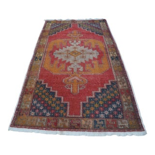 Turkish Bohemian Handwoven Carpet - 4′4″ × 8′5″