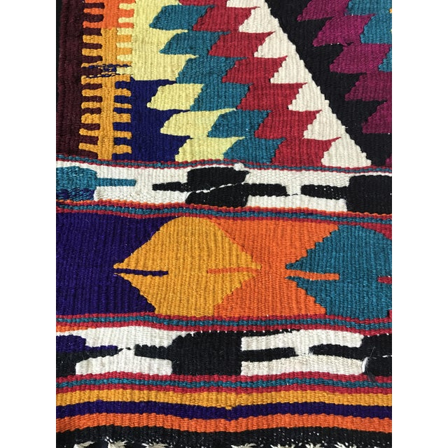 Turkish Anatolian Hand-Woven Wool Kilim Rug- 2′9″ × 4′4″ - Image 3 of 6