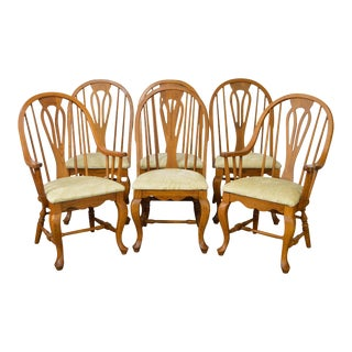 Richardson Brothers Solid Oak Windsor Style Dining Chairs - Set of 6