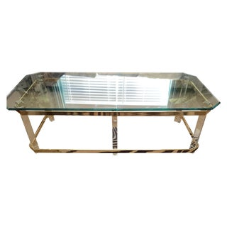Charles Hollis Jones Brass Lucite Coffee Table