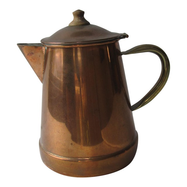 Vintage Copper & Brass Coffee Pot - Image 1 of 7