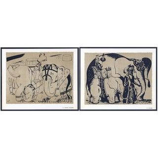 1944 Lithographs - Circus: # 52 & 75 - A Pair