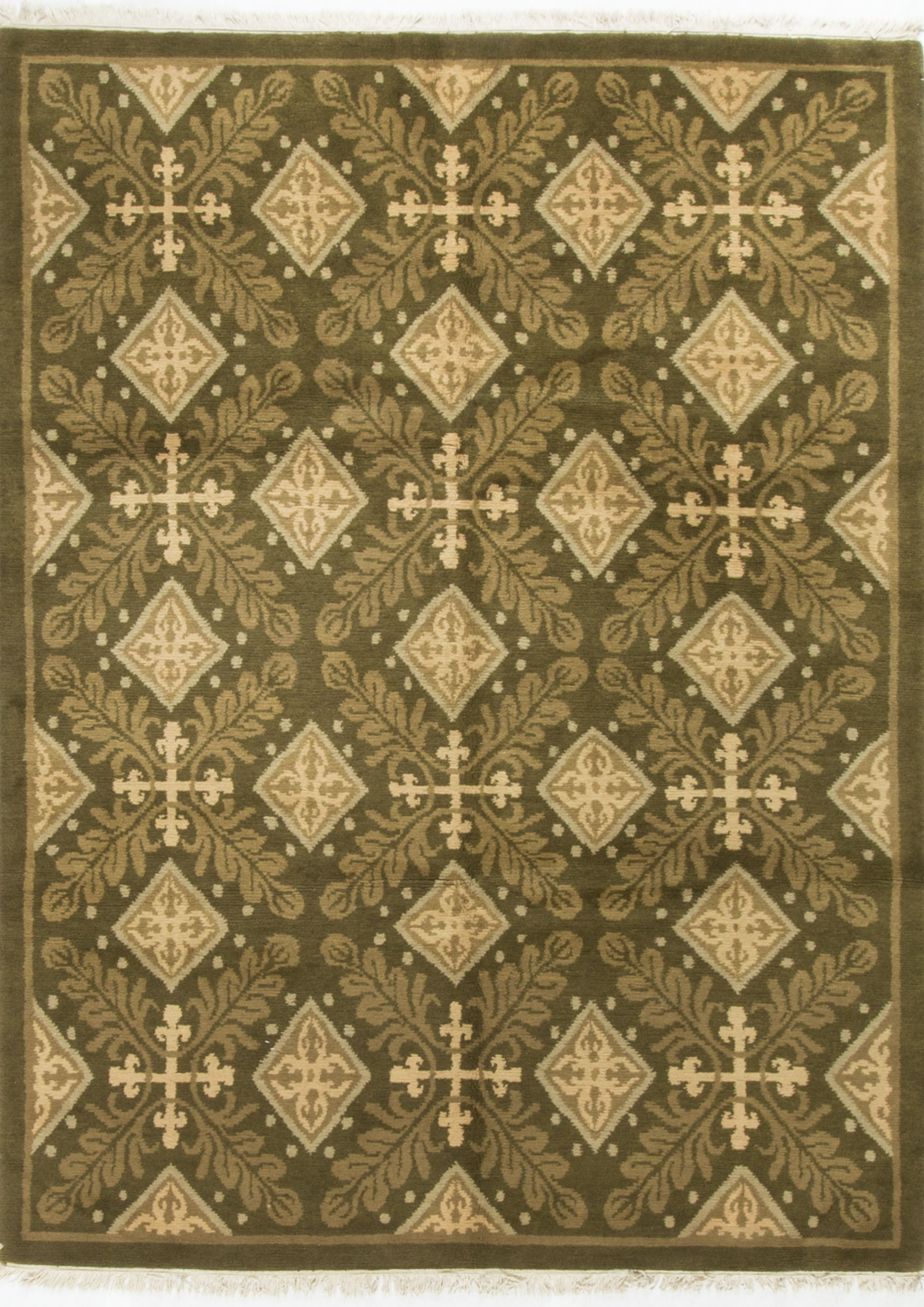 Contemporary Hand Knotted Wool Rug 7 11 215 10 4 Chairish