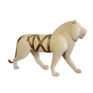 Large Egyptian Lion Statue
