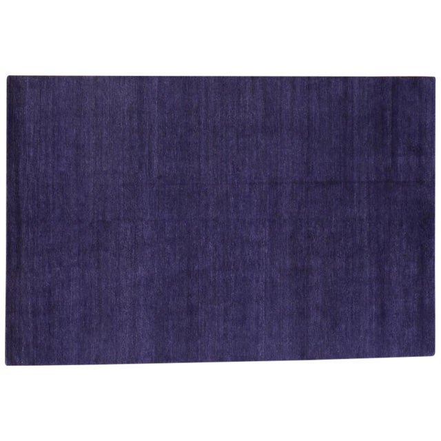 Image of Solid Purple Tibetan Rug - 6' X 9'