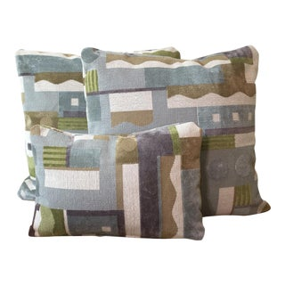 Clarence House Art Deco Pillows - Set of 3