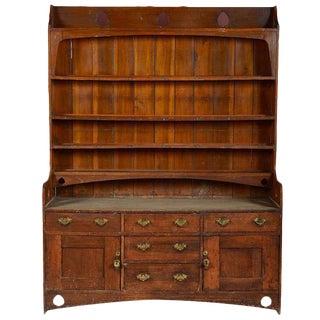 Two-Piece Welsh Wooden Cupboard