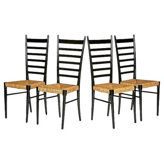 1950s Gio Ponti Ladder Back Chairs - Set of 4