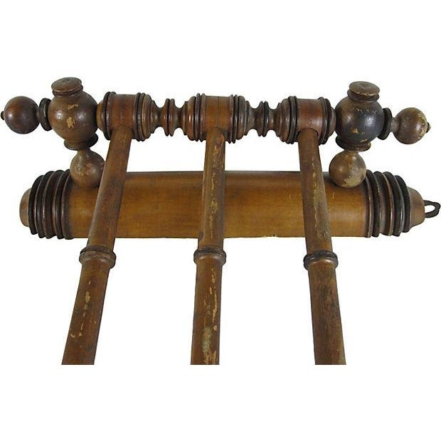 Antique French Swing-Arm Hand Towel Rack - Image 3 of 7