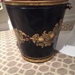 Image of Black & Gold Vintage Pail