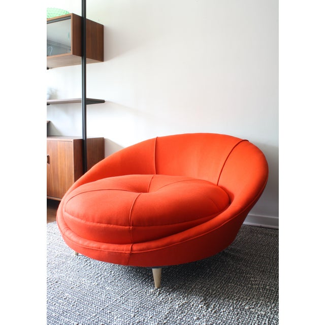 Milo Baughman Round Chaise Lounge - Image 5 of 10