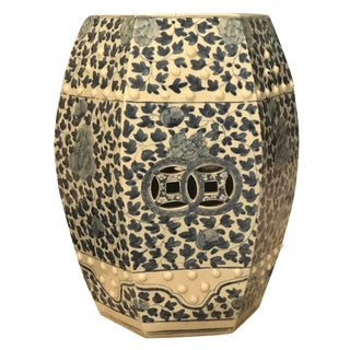 Chinese Blue & White Ceramic Hexagonal Garden Seat