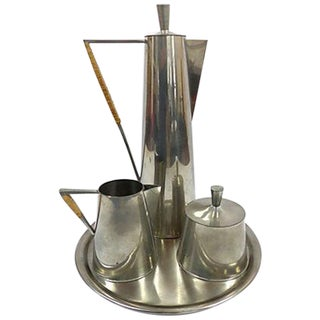 Modernist Pewter Coffee Service - Set of 4