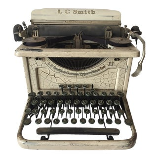 Smith & Corona Shabby Chic Ivory Typewriter