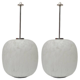 Mazzega Murano Attributed Pendant Lamps - A Pair