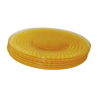 Yellow Plastic Tiki Bubble Plates