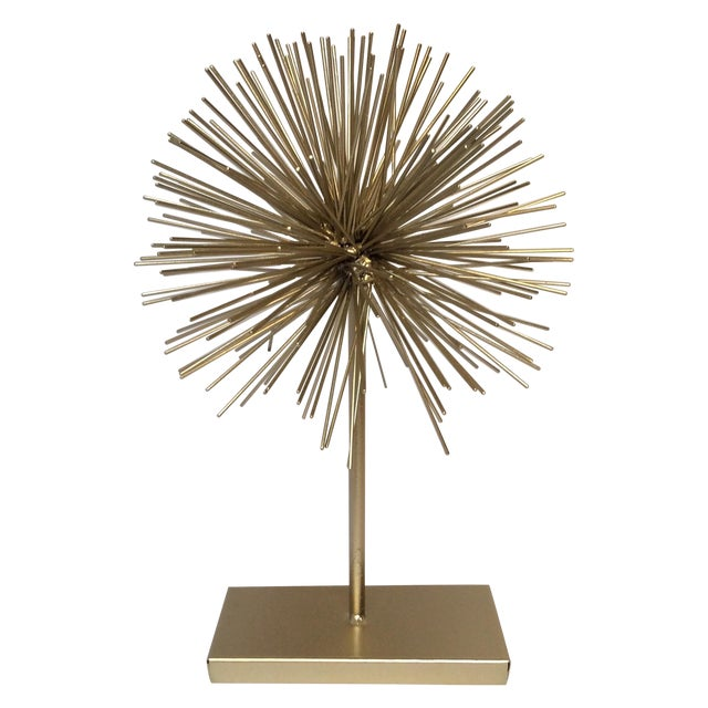 Large Gold Star Burst on Stand - Image 1 of 6