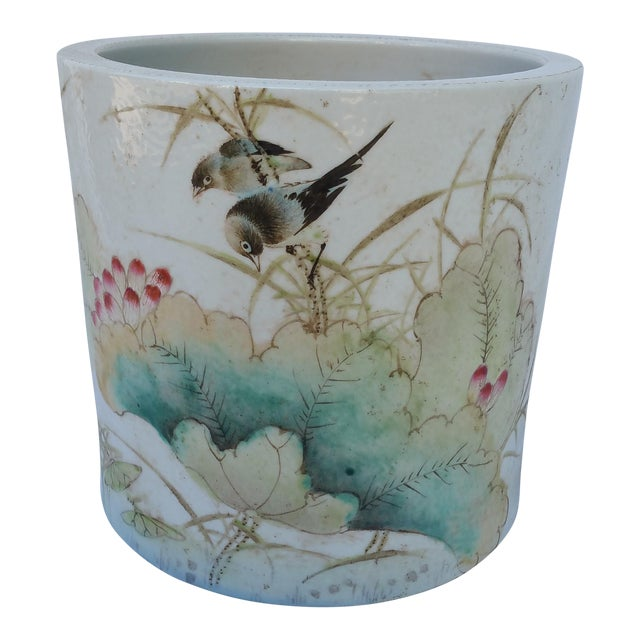 Vintage Chinese Bird Jardinaire - Image 1 of 5